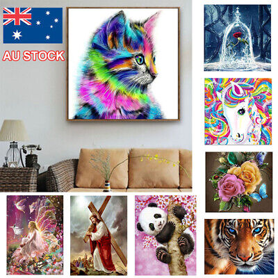AU5.89 • Buy 5D DIY Diamond Painting Drill Hand Embroidery Kits Art Cross Stitch Decors Gifts
