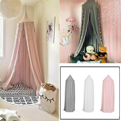 UK Kids Girls Bed Canopy Mosquito Net Bedcover Curtain Dome Tent Bedroom Netting • 13.98£