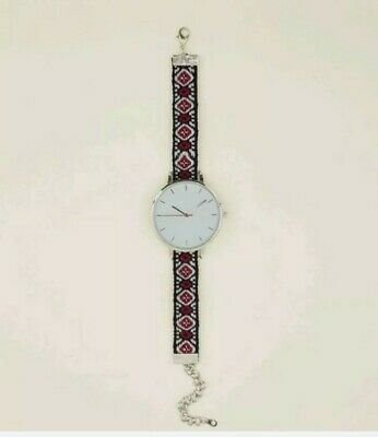 £5.99 • Buy New Look Silver Woven Strap Watch Rrp £14.99