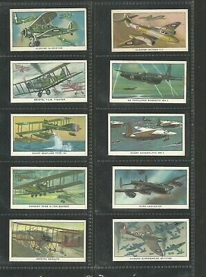 Cigarette/trade Cards Kellogg 1963 A History Of British Military Aircraft - F/s • 2.99£