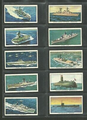 Cigarette/trade Cards Kellogg 1962 Ships Of The British Navy  - Full Set • 2.99£