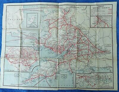 Great Western Railway Gwr System Map Passenger Lines Undated • 4.99£