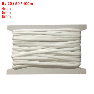 $ CDN12.46 • Buy 5/20/50/100m Elastic Flat Band Trim Soft Spandex Cord For Sewing 4/5/6mm PW