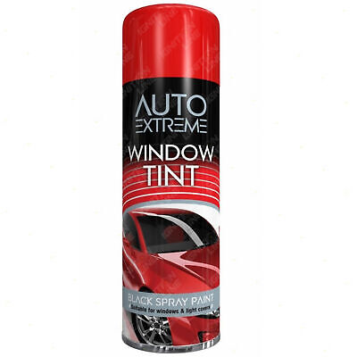 Auto Extreme Black Window Tint Spray Paint Aerosol Car Window Fast-Drying 300ml • 6.99£