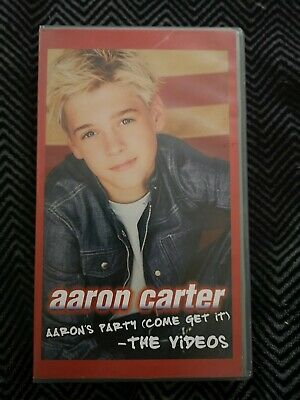Aaron Carter - Aaron's Party (Come Get It) VHS Cassette Tape - Untested • 4.99£