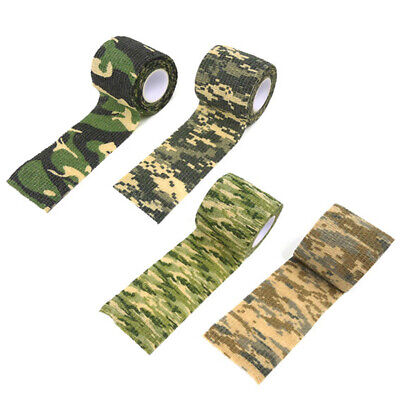 £4.50 • Buy 1 Roll  4.5 M Camo Tape Wrap Stealth Hunting Camouflage Gun Sniper Waterproof UK