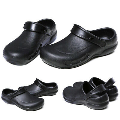 £24.12 • Buy Mens Chef Shoes Comfort Clogs Slippers Kitchen Shoes Safety Slip On Shoes 2019