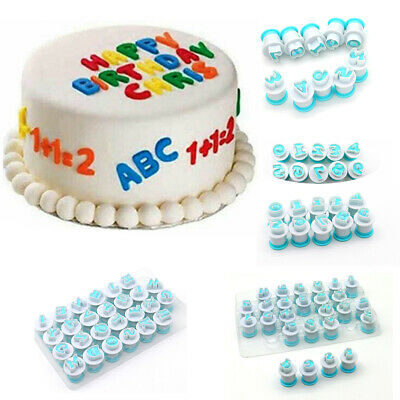 26 Alphabet Letter Number Fondant Cake Biscuit Baking Mould Cookie Cutters Stamp • 2.39£