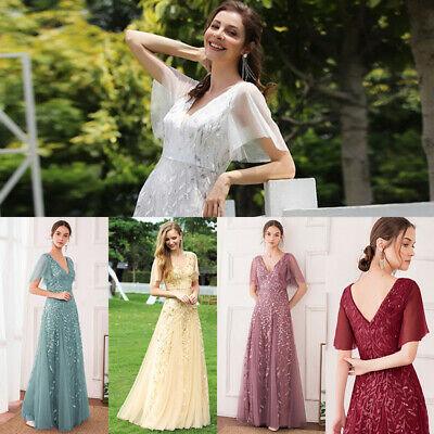 Ever-Pretty Wedding Bridesmaid Dresses Long Party Cocktail Formal Dresses Prom • 26.99£