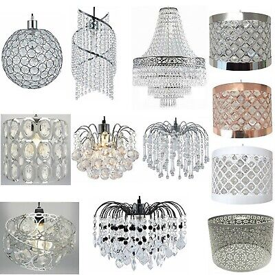 £16.95 • Buy Modern Chandelier Ceiling Light Shades Acrylic Crystal Droplet Pendant Lampshade