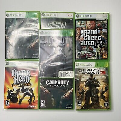 $ CDN52.64 • Buy Xbox 360 Lots Of 7 Games Call Of Duty Gears Fallout Guitar Hero