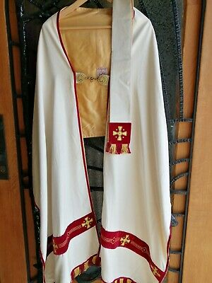 £120 • Buy Antique Priest Church Christian Humeral Veil Vestment Chasuble Matching Stole