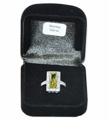 $ CDN200.79 • Buy Lot Of 38 Pieces Women's Sterling Silver Peridot CZ Ring # 8.5