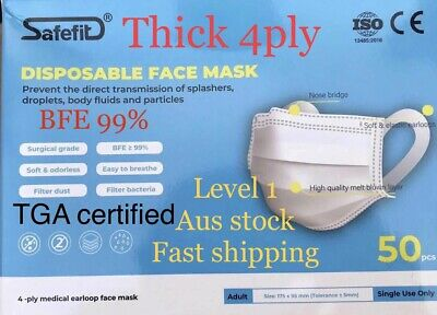 AU32 • Buy Level1/ 4PLY/50PCS FACE COVER/ Medical FM/ Protective Of The Virus