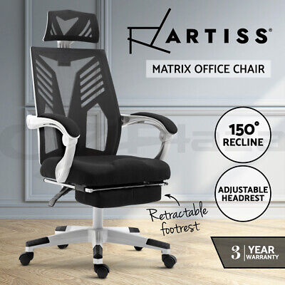 AU199.95 • Buy Artiss Gaming Office Chair Computer Desk Chair Home Work Recliner Black White