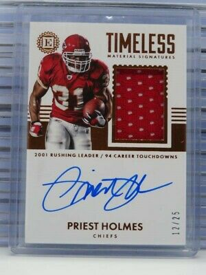 $ CDN8.70 • Buy 2017 Encased Priest Holmes Timeless Materials Jersey Auto Autograph #12/25 E60
