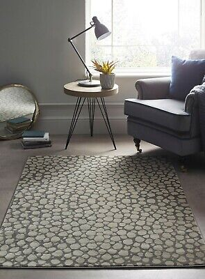 Origins Artic Range Juke Pebble Woven Contemporary Rug Cream/Beige 80 X 150cm • 55£