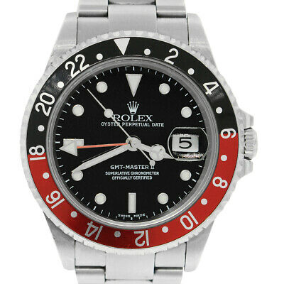 $ CDN15345.24 • Buy  Rolex 16710 GMT Master II Coke Bezel Stainless Steel Watch