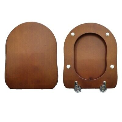 Toilet Seat Old Antea Gsi Compatible Solid Wood Walnut • 115.89£