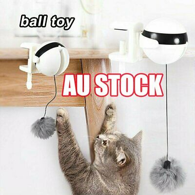 AU20.95 • Buy Electric Automatic Lifting Cat Ball Toys Interactive Puzzle Smart Pet Cat Balls