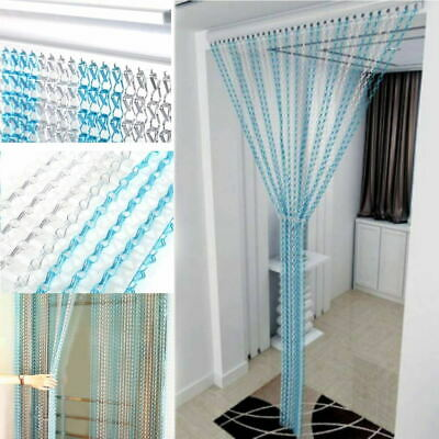 Metal Aluminium Chain Strip Link Curtain Bug Door Fly Pest Insect Blinds Screen • 39.95£