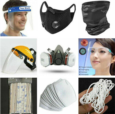 AU10.99 • Buy Full Face.7 In1 Half Face.Shield Screen.Face Mask.Elastic Cord.Filters.PM2.5