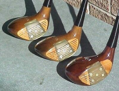 AU89.12 • Buy PERSIMMON Macgregor VIP Golf Clubs Wood Set Driver 3 4 W Firm Flex & New Grips