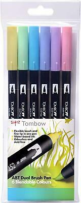 Tombow ABT Dual Brush Pen - Pastel Colours (Pack Of 6) • 22.39£