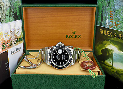 $ CDN12360.77 • Buy ROLEX Mens Vintage Stainless Submariner Black Dial BOX BOOKS 16610 SANT BLANC