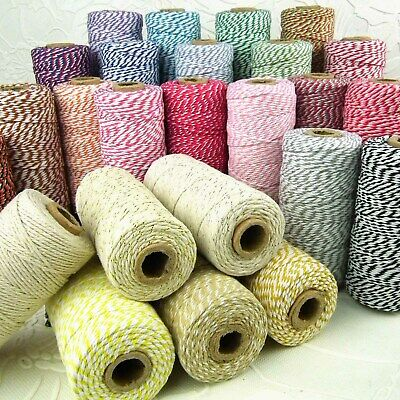 £1.99 • Buy CLEARANCE! 12ply Cotton Bakers Twine 5/10M 2mm String In 38 Divine Colours