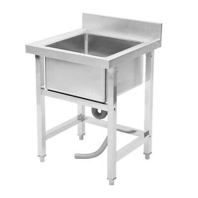 Commercial Stainless Steel Kitchen Sink Handmade Catering Wash Table Single Bowl • 185.95£