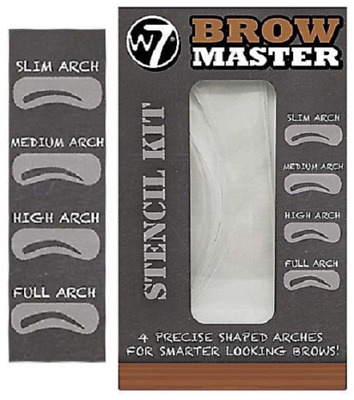 W7 Brow Master Eyebrow Stencil Kit Shaping Defining 4 Arch Make Up Templates • 2.79£
