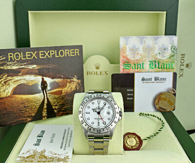 $ CDN12616.50 • Buy ROLEX Rehaut Mens 40mm Stainless Steel Explorer II White Dial 16570 SANT BLANC