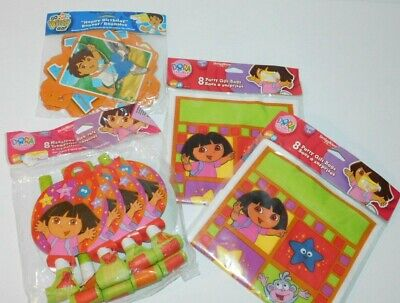 Dora The Explorer Go Diego Go Party Lot Banner Loot Bags Medallion Blow Outs New • 10.71£