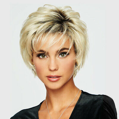 £10.89 • Buy Women Short Fluffy Wig Ladies Real Natural Pixie Full Hair Wigs Party Cosplay UK