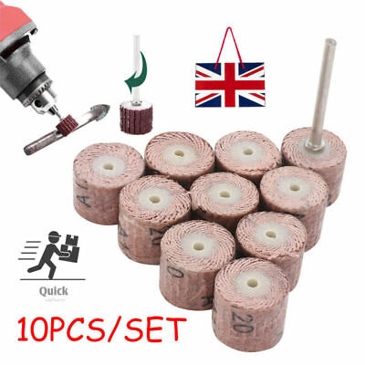 10PC 120 Grit Flap Wheel Sanding Sandpaper Drill Polish Disc For Rotary Tool • 2.95£