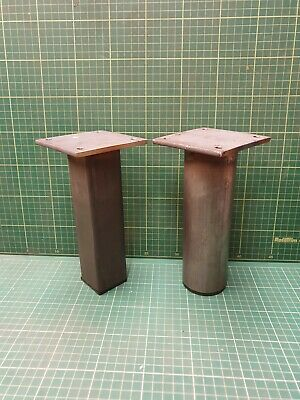 Chunky Solid Steel Industrial Rustic Style Table/Bench Legs 2  Square 2.5  Round • 15£