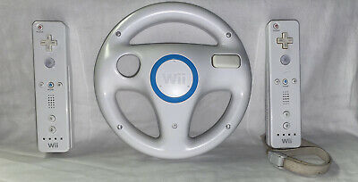 $ CDN45.57 • Buy Nintendo Wii Remote Controllers  & Wii Wheel RVL-003 Lot Of 2 Tested!!