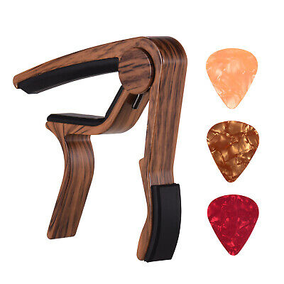 $ CDN12.17 • Buy Aluminum Alloy Wood Color Guitar Capo For 6-string Folk Guitar Electric Y8H2
