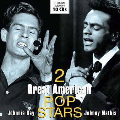 Johnnie Ray And Johnny Mathis 2 Great American Pop-Stars CD New 2019 • 16.99£