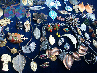 $ CDN44.39 • Buy Lot Of Vintage/now Costume Jewelry All Fall/autumn Pieces Lots Of Leaves Sale
