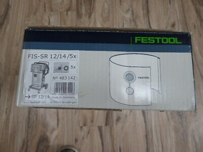Festool 483142 BOX Of 5 TWO-PLY FILTER BAGS FIS-SR 12/14 /5 • 35£