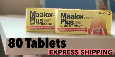 $29.99 • Buy EXPRESS SHIPPING 80 Maalox Plus Chewable Simethicone Gastric Stomach Wind Relief