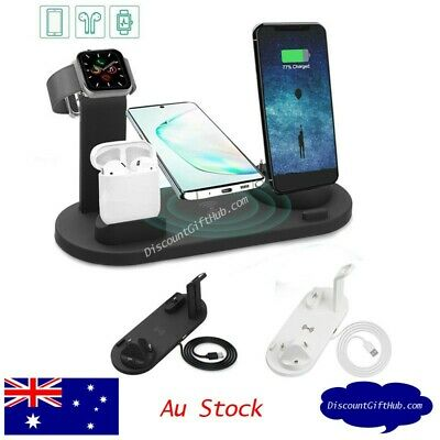 AU24.50 • Buy 3 In 1 Qi Wireless Fast Charging Dock For Airpods, Apple Watch Iphone