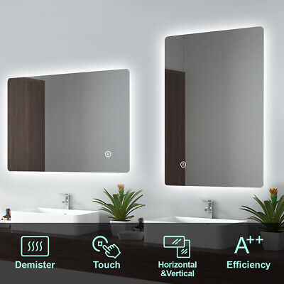 LED Bathroom Mirror Lights Illuminated Touch Demister Pad Wall Hang IP44 Backlit • 72.99£