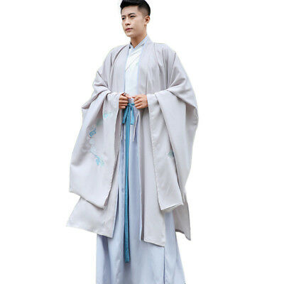 £52.04 • Buy 3Pcs Men's Chinese Embroidery Ancient Costume COSPLAY Hanfu Robes Dress Shirt