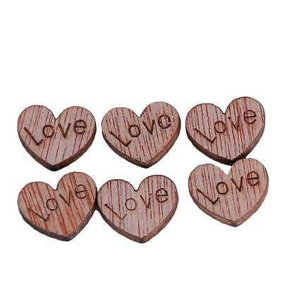 Wooden Love Hearts Craft Hanging Gift Tag Wedding Decoration Embellishment SPM • 2.10£