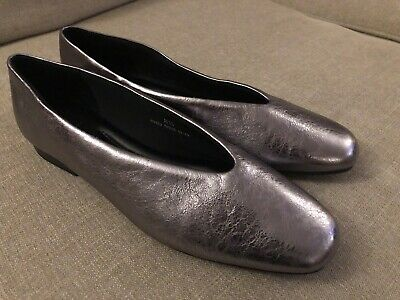 £9.99 • Buy Marks & Spencer Insolia Pewter Colour Leather Shoes/pumps  Size 8 1/2 BNWT
