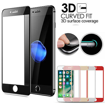 3D Full Cover Tempered Glass Screen Protector Film For IPhone 6 6S 7 8 7 8 PLUS • 2.99£