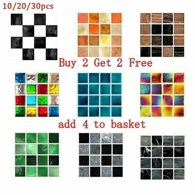 Mosaic Tile Stickers Stick On Bathroom Kitchen Home Wall Decal Self-adhesive UK • 3.99£